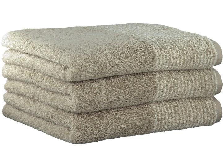 Ręcznik bawełniany 30x50 Two-Tone piaskowy, Cawö