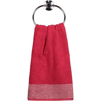 Ręcznik bawełniany 30x50 Two-Tone bordowy, Cawö