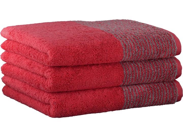 Ręcznik bawełniany 30x50 Two-Tone czerwony, Cawö