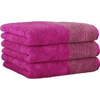 Ręcznik bawełniany 80x150 Two-Tone jagodowy, Cawö