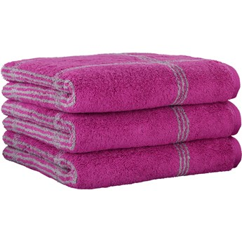 Ręcznik bawełniany 80x150 Two-Tone krata jagodowy, Cawö