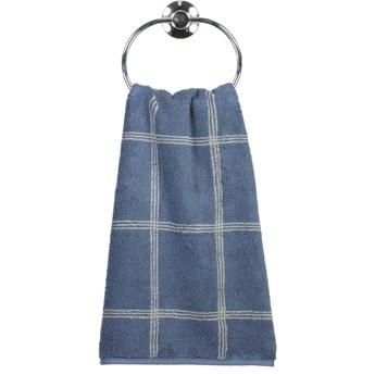 Ręcznik bawełniany 50x100 Two-Tone krata ciemnoniebieski, Cawö