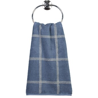 Ręcznik bawełniany 80x150 Two-Tone krata ciemnoniebieski, Cawö