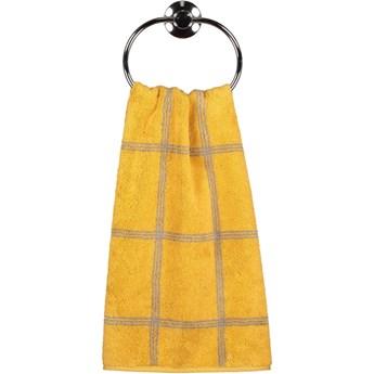 Ręcznik bawełniany 50x100 Two-Tone krata żółty, Cawö
