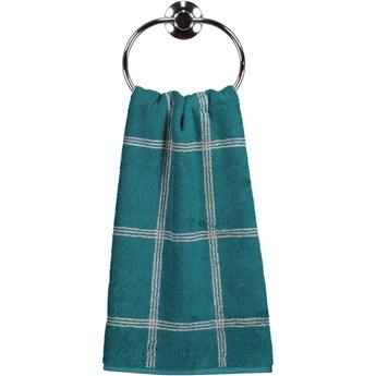 Ręcznik bawełniany 50x100 Two-Tone krata szmaragdowy, Cawö