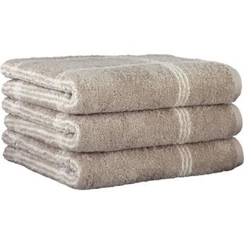 Ręcznik bawełniany 50x100 Two-Tone krata piaskowy, Cawö
