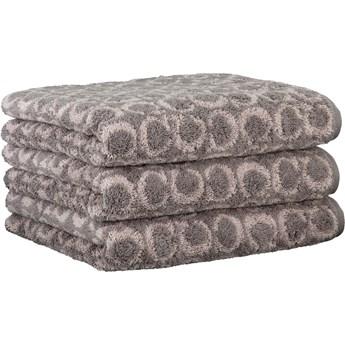 Ręcznik bawełniany 80x150 Two-Tone Allover grafitowy, Cawö
