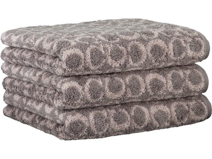 Ręcznik bawełniany 80x150 Two-Tone Allover grafitowy, Cawö 80x150 cm Bawełna Kolor Czarny Kategoria Ręczniki