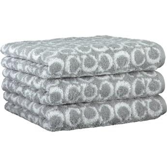 Ręcznik bawełniany 50x100 Two-Tone Allover platynowy, Cawö