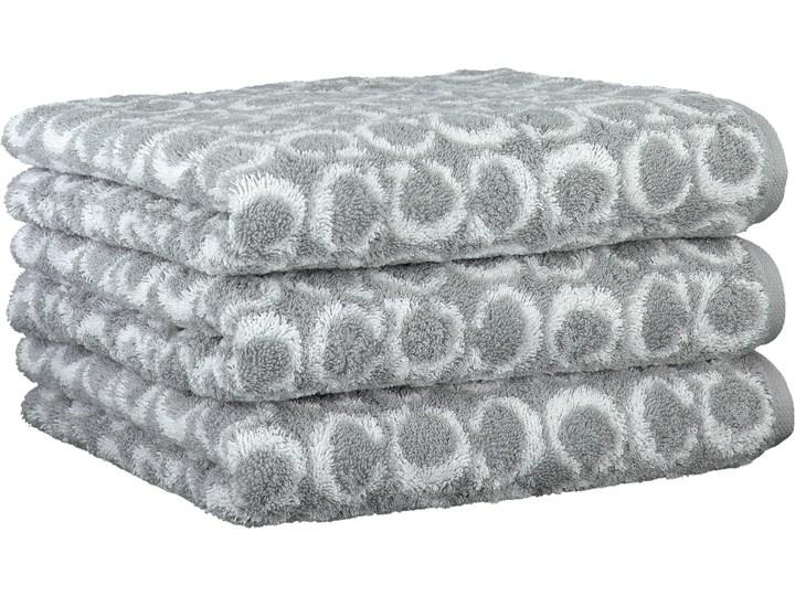 Ręcznik bawełniany 50x100 Two-Tone Allover platynowy, Cawö 50x100 cm Bawełna Kategoria Ręczniki