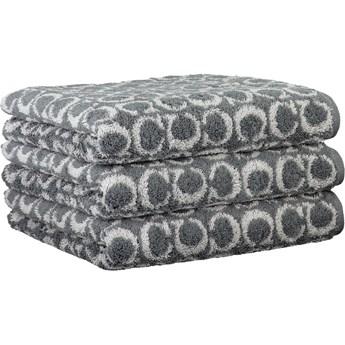 Ręcznik bawełniany 50x100 Two-Tone Allover ciemnoszary, Cawö