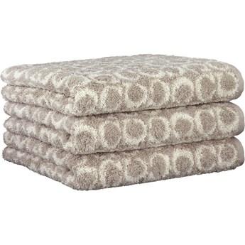 Ręcznik bawełniany 80x150 Two-Tone Allover piaskowy, Cawö