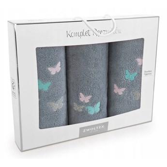 Komplet ręczników bawełnianych Motyle, Zwoltex