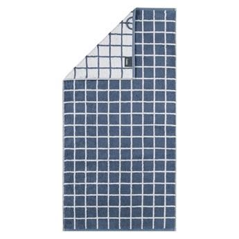 Ręcznik bawełniany 50x100 Campus krata ciemnoniebieski, Cawö