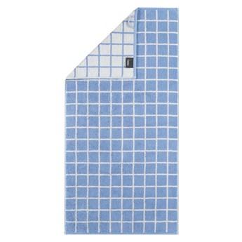 Ręcznik bawełniany 50x100 Campus krata błękitny, Cawö
