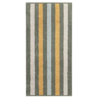 Ręcznik bawełniany 50x100 Heritage Stripes ciemnozielony, Cawö