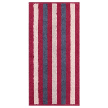 Ręcznik bawełniany 80x150 Heritage Stripes bordowy, Cawö