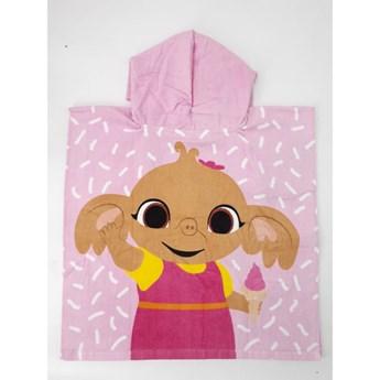 Ręcznik dziecięcy ponczo 55x110 Bing róż, Setino