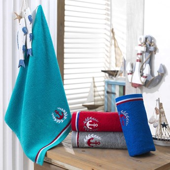 Ręcznik bawełniany MARITIM Navy Blue 50x90, Hobby