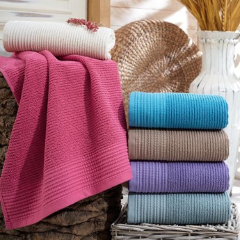 Ręcznik bawełniany REINA Pink 70x140, Hobby
