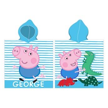 Ręcznik dziecięcy ponczo 50x115 Peppa George, Carbotex