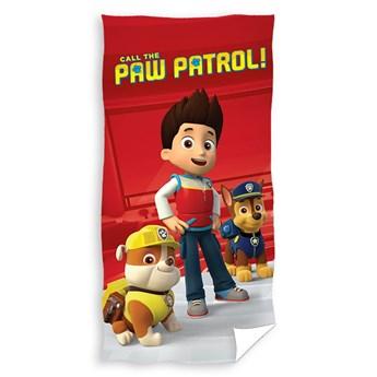 Ręcznik dziecięcy frota 70x140 Psi Patrol Red, Carbotex