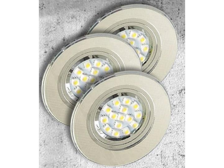 Oprawa sufitowa zestaw trzech opraw aluminium, Candellux Oprawa stropowa Oprawa led Oprawa halogenowa Kategoria Oprawy oświetleniowe