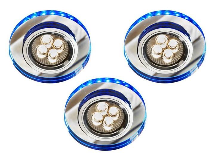 Oprawa sufitowa zestaw trzech Niebieski, Candellux Oprawa led Kwadratowe Okrągłe Oprawa stropowa Oprawa dekoracyjna Kategoria Oprawy oświetleniowe