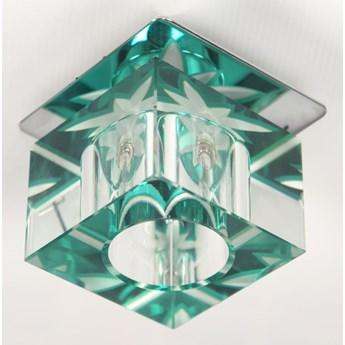 Oprawa sufitowa stała Kryształ Kostka Tło Zielone, Candellux