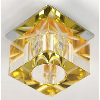 Oprawa sufitowa stała Kryształ Kostka Tło Żółte, Candellux