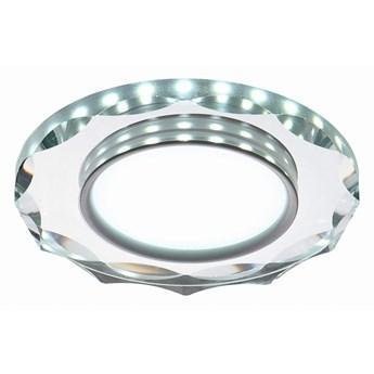 Oprawa sufitowa Ring Led Biały Szlif Szkło Transparentne, Candellux