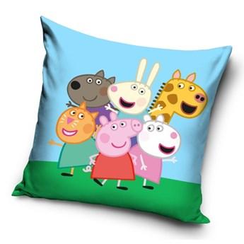 Poduszka dziecięca 40x40 Świnka Peppa i Przyjaciele, Carbotex