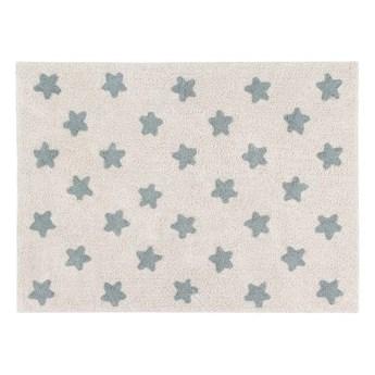 Dywan bawełniany Stars Natur Vintage Blue 120x160 cm, Lorena Canals