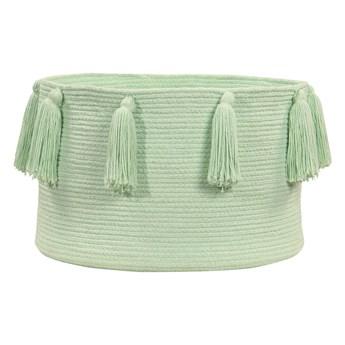 Kosz dekoracyjny Tassels Soft Mint, Lorena Canals