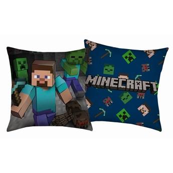 Poduszka dziecięca 40x40 Minecraft Steve Grey, Halantex