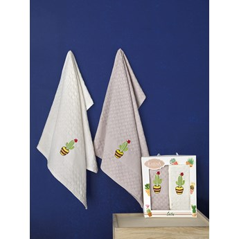 Bilge Ręcznik bawełniany waffle haft PEDRO/3481/V3/ 2x45x65 kpl.