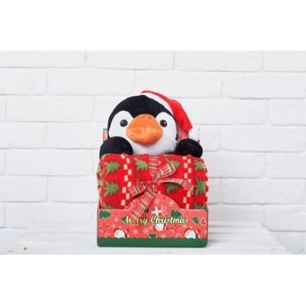 Dekorima Maskota z kocyckiem Pingwin święta