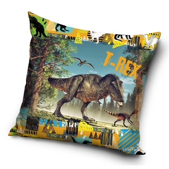 Poduszka dziecięca 40x40 Dinozaur T-rex , Carbotex