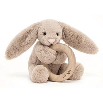 Bashful królik gryzak beżowy 13 cm, JellyCat