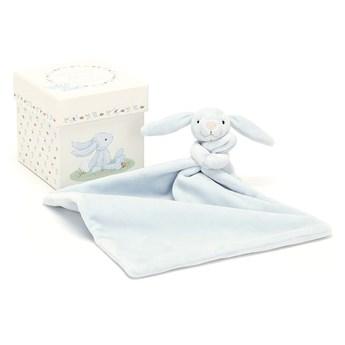 Moja pierwsza szmatka przytulanka z królikem niebieska 23 cm, JellyCat