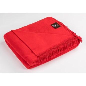 Cotton Cloud Koc bawełniany 150x200 kolor czerwony