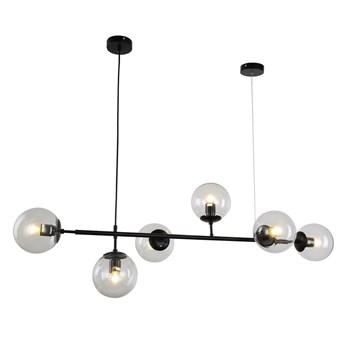 Nowoczesna lampa wisząca czarna ceredo w6, Lumina Deco