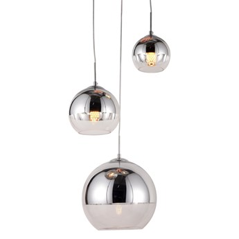 Nowoczesna lampa wisząca chromowana veroni trio, Lumina Deco