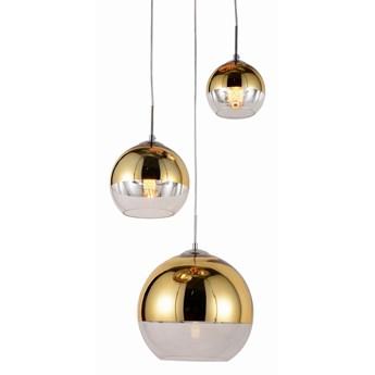 Nowoczesna lampa wisząca złota veroni trio, Lumina Deco
