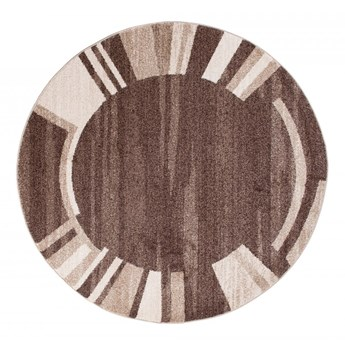 Dywan Nowoczesny Geometryczny Brązowy 44937 130 x 130 cm