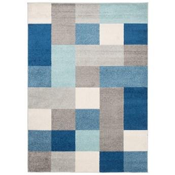 Dywan Nowoczesny Geometryczny Szary Niebieski Lazur 57883 140 x 190 cm