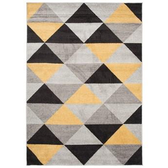 Dywan Nowoczesny Geometryczny Szary Żółty Lazur 57982 160 x 220 cm