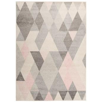 Dywan Nowoczesny Geometryczny Pastelowy Różowy Lazur 58004 240 x 330 cm