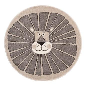 Dywan Dziecięcy Okrągły Kotek Beżowy Fiesta 56564 80 x 80 cm