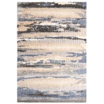 Dywan Shaggy Abstrakcyjny Beżowy Niebieski Versay 57613 80 x 150 cm
